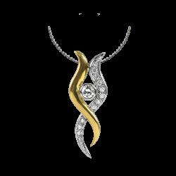 Life Pendant with Diamonds